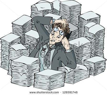 Busy Worker Clipart.