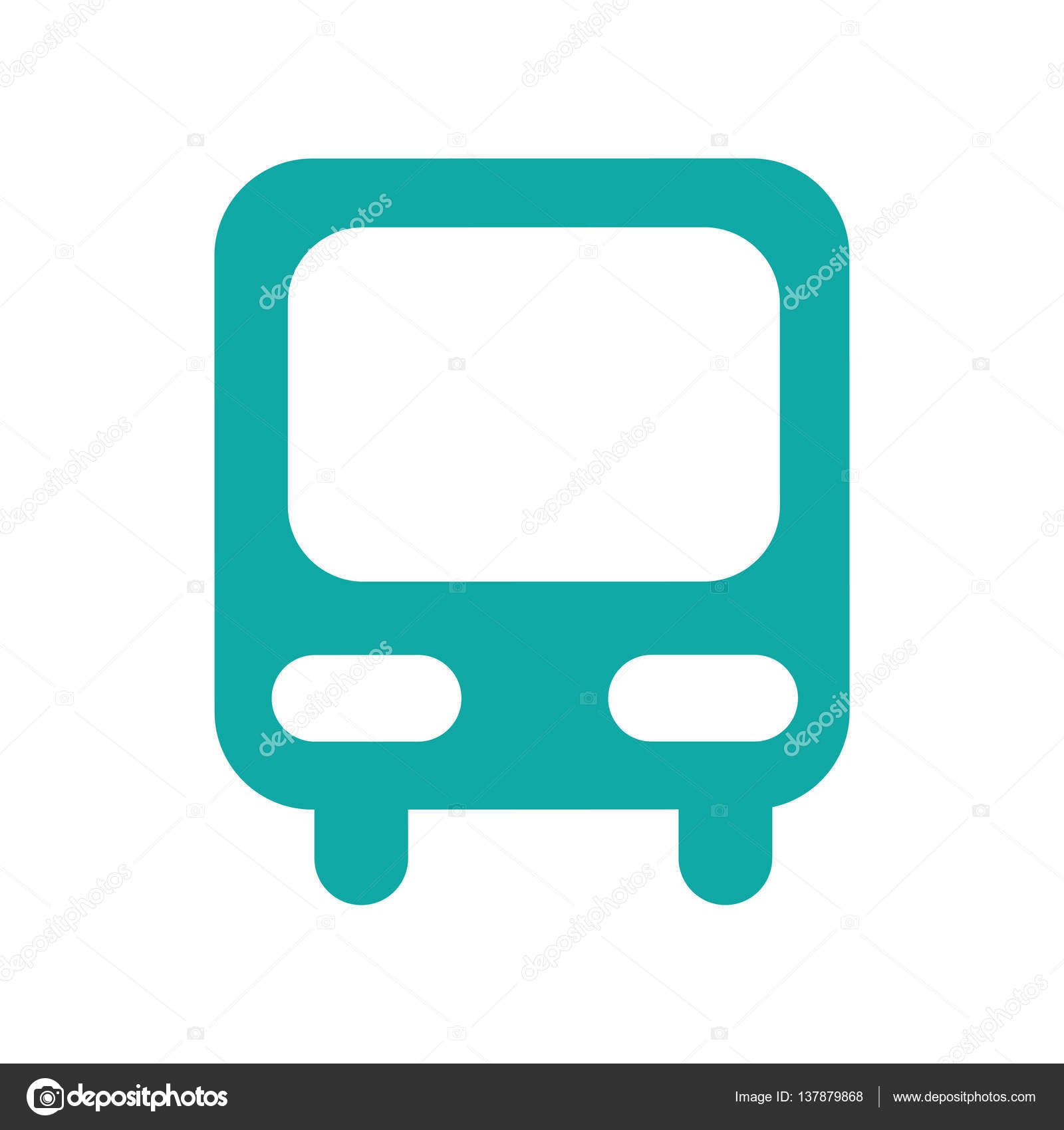 Autóbusz állomás elszigetelt ikon — Stock Vektor © yupiramos.