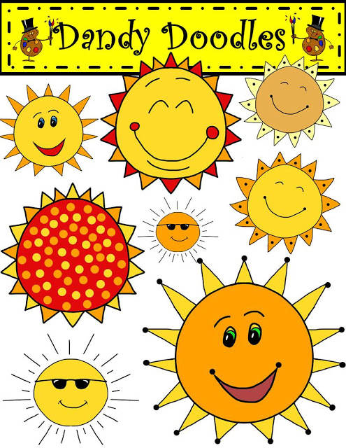 First Grade Bloomabilities: Sunny Days! (Free Clip Art Set!).