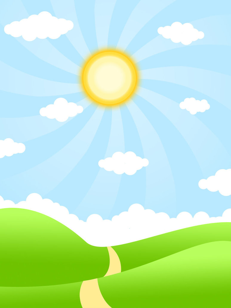 Sunny day animated clipart.