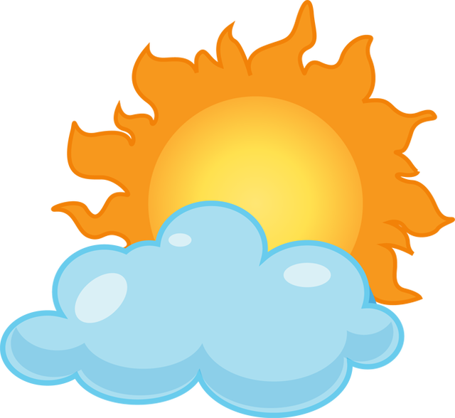 Clip Art Partly Sunny Partly Rainy Clipart.