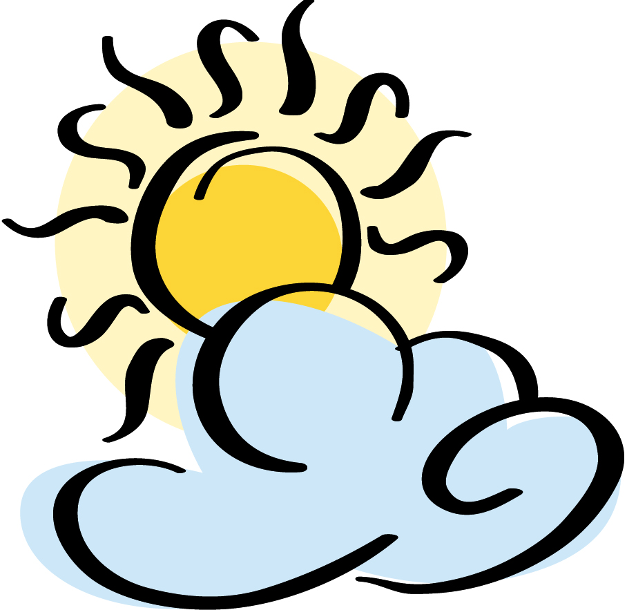 Partly Sunny Clipart.