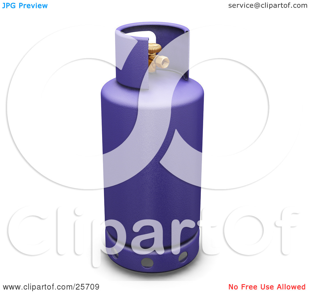 Clipart Illustration of a Purple Butane Gas Tank by KJ Pargeter #25709.