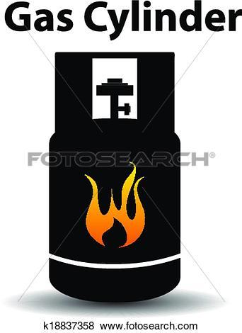 Clip Art of Gas propane butane danger sign k18837358.