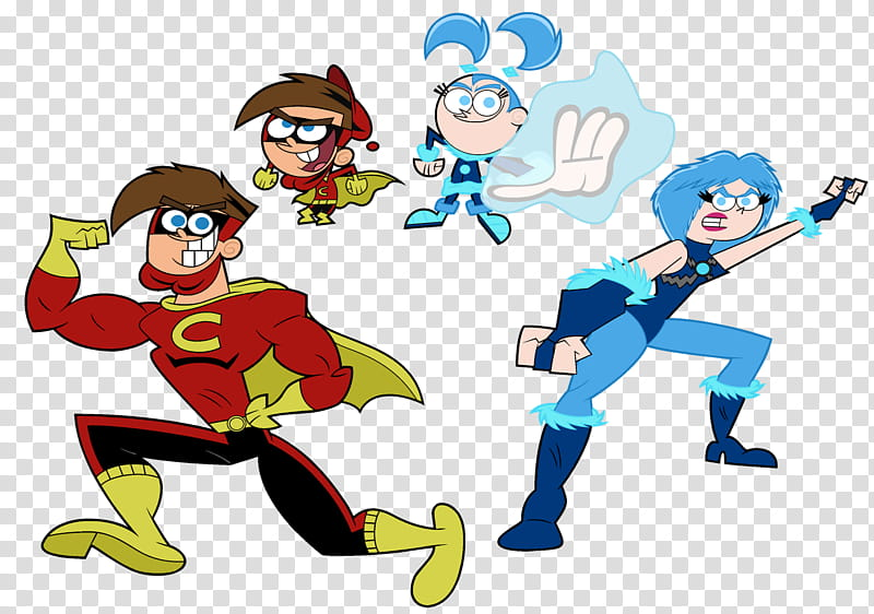 Timmy Turner, Tootie, Chip Skylark, Trixie Tang, Artist.