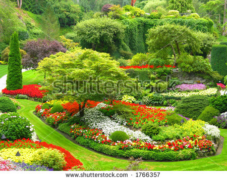 Butchart Gardens Stock Photos, Royalty.
