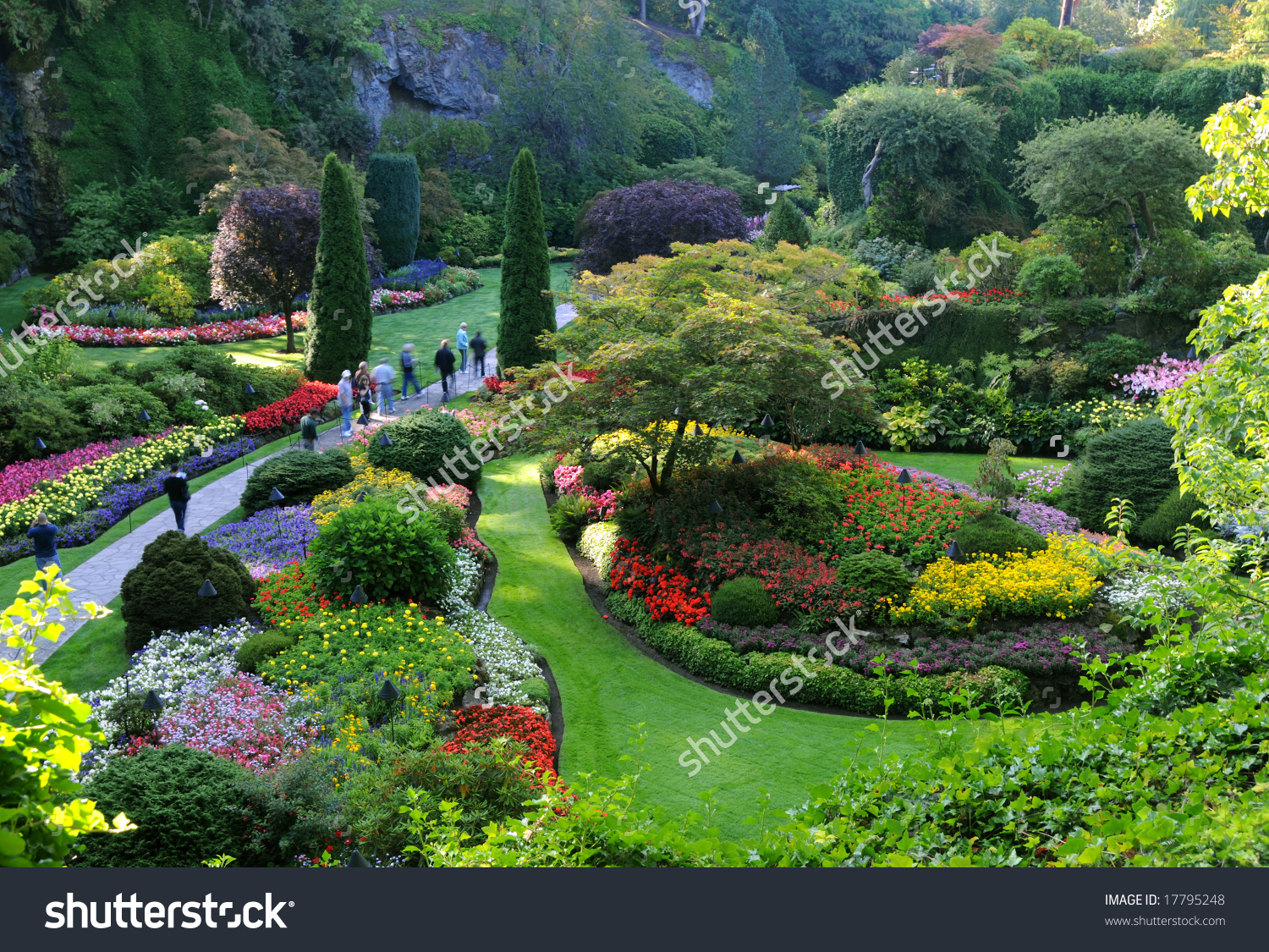 The Butchart Gardens, Victoria, Bc, Canada Stock Photo 17795248.