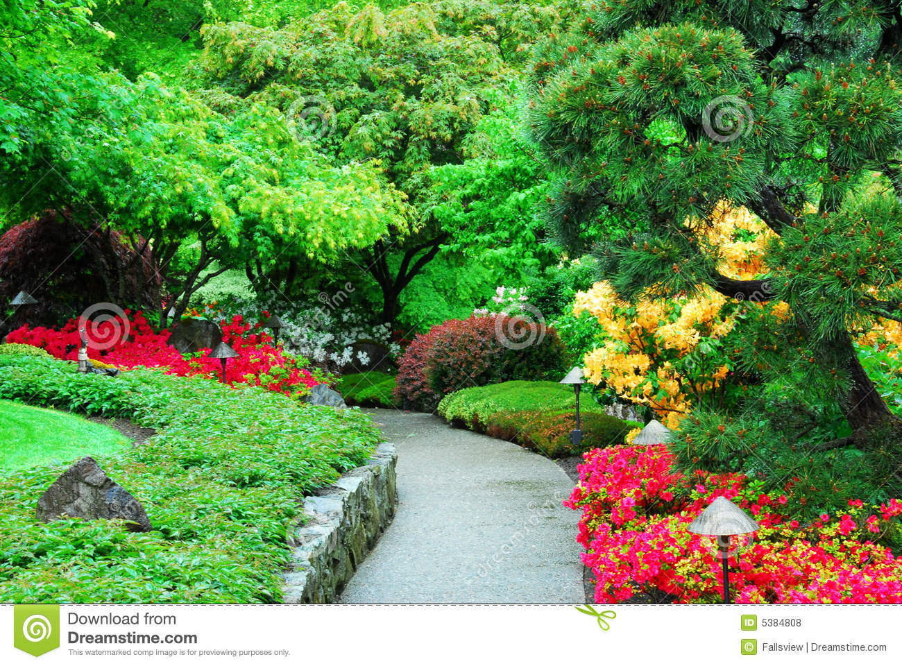 Butchart Gardens Royalty Free Stock Photos.