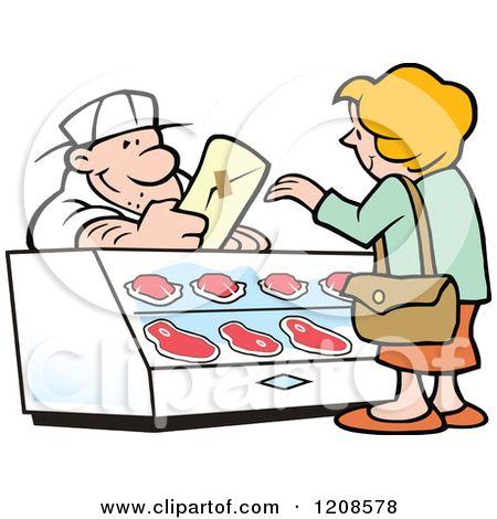 butcher shop clipart.