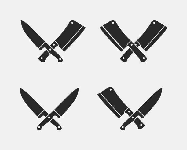 Best Butcher Knife On White Illustrations, Royalty.
