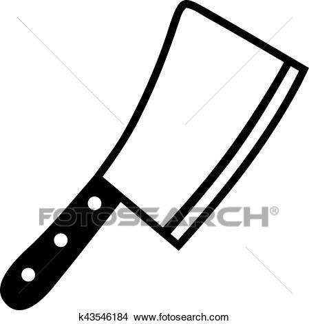 Butcher Knife Cleaver Clipart.