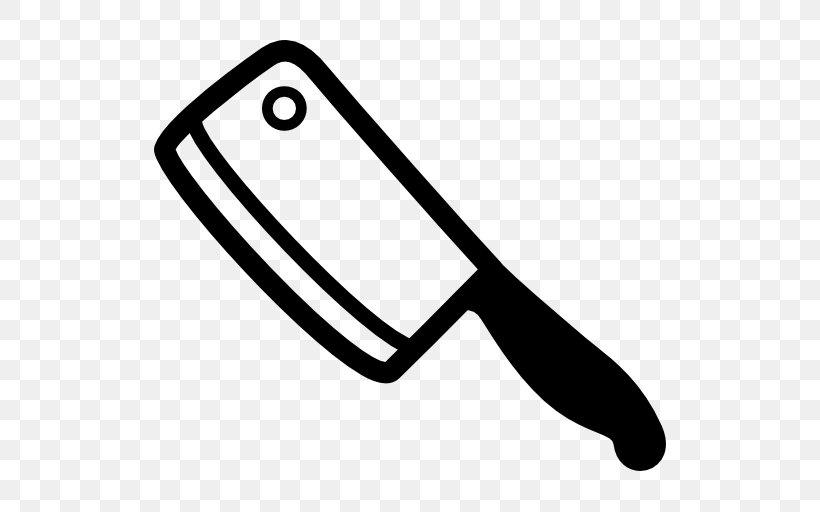 Butcher Knife Cleaver, PNG, 512x512px, Knife, Area, Black.