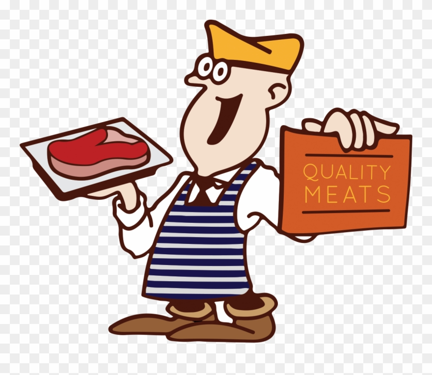Vector Freeuse Library Butchers Shop Clipart.