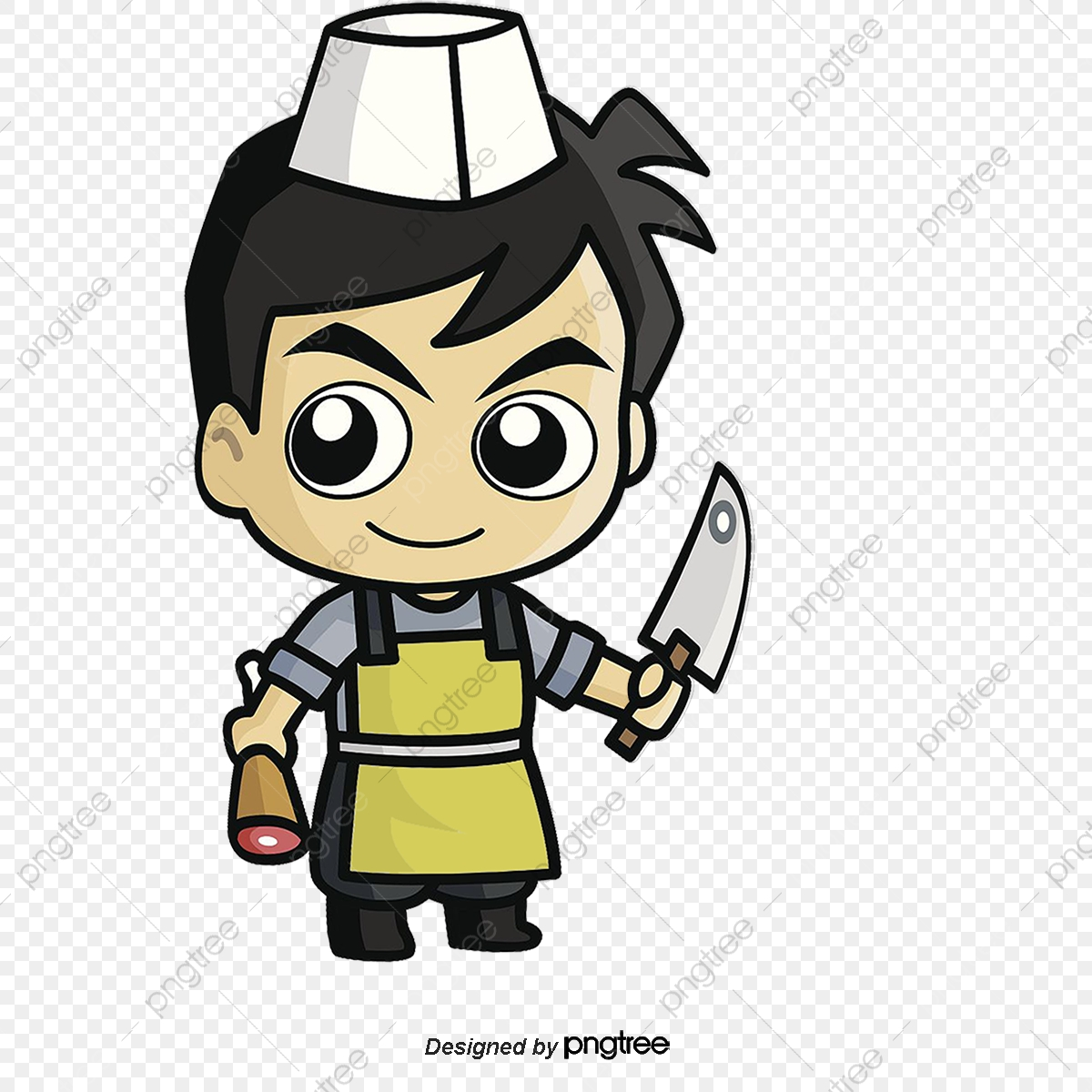 Butcher Meat Hawker, Butcher, Meat, Peddler PNG and Vector with.