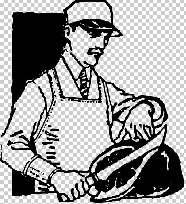 Butcher Meat Market PNG, Clipart, Arm, Art, Artwork, Black.