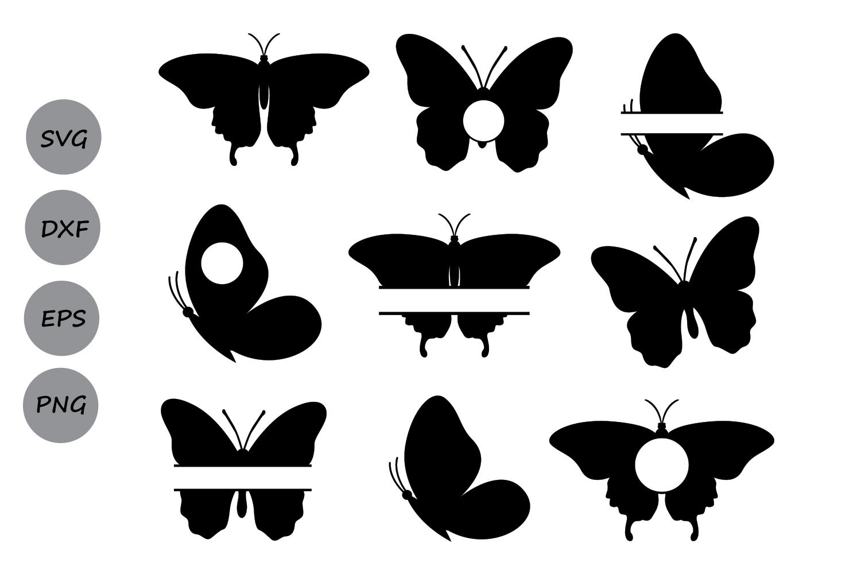 Butterfly SVG, Butterfly Monogram Svg, Butterflies Svg, Butterfly Clipart,  Butterfly Silhouette, Monogram Frame, Cricut, svg, dxf, eps, png..