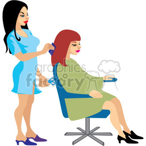 beautician clipart. Royalty.