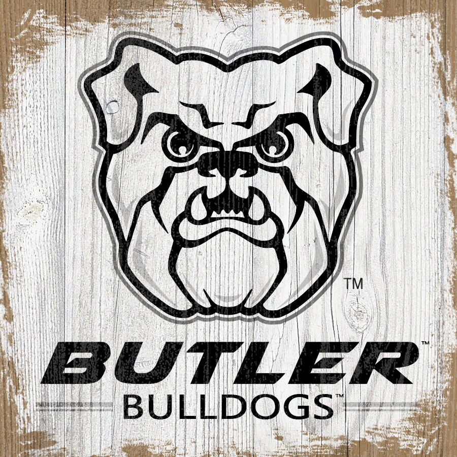 Butler Bulldogs 6\'\' x 6\'\' Team Logo Block.