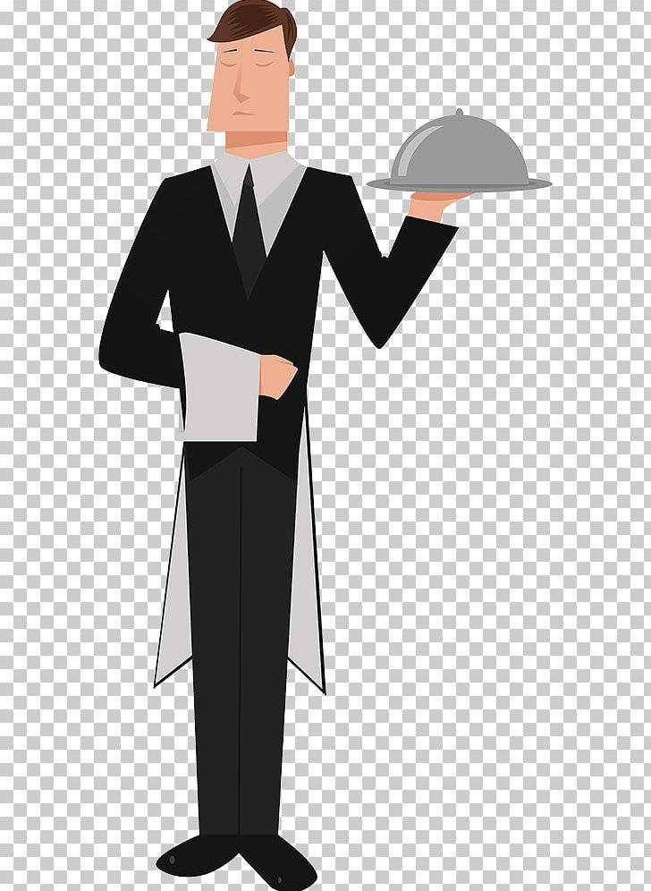 Butler Tray PNG, Clipart, Academic Dress, Angle, Butler, Cartoon.