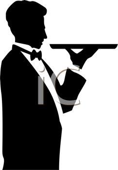 Butler tray clipart.