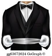 Butler Clip Art.