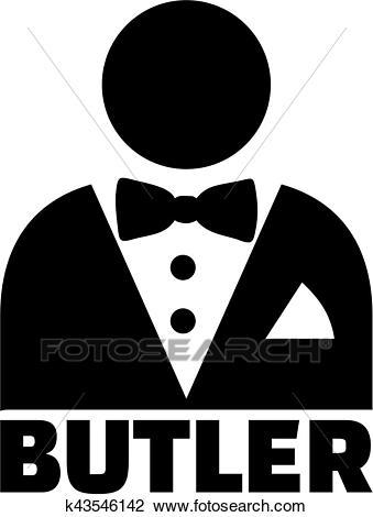 Butler pictogram Clipart.