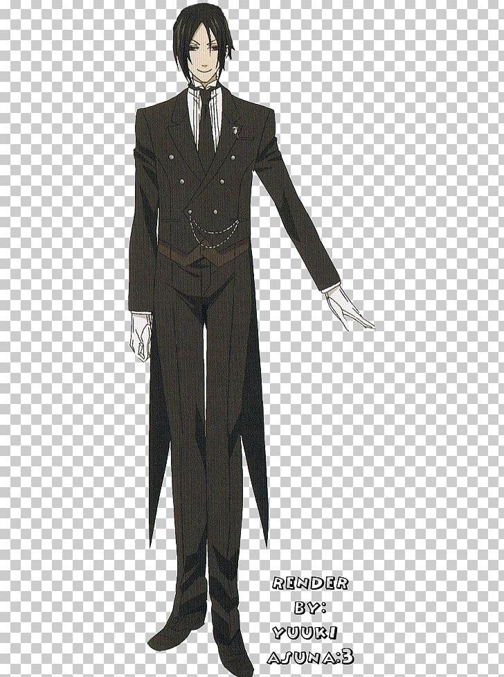 Sebastian Michaelis Ciel Phantomhive Black Butler Costume PNG.