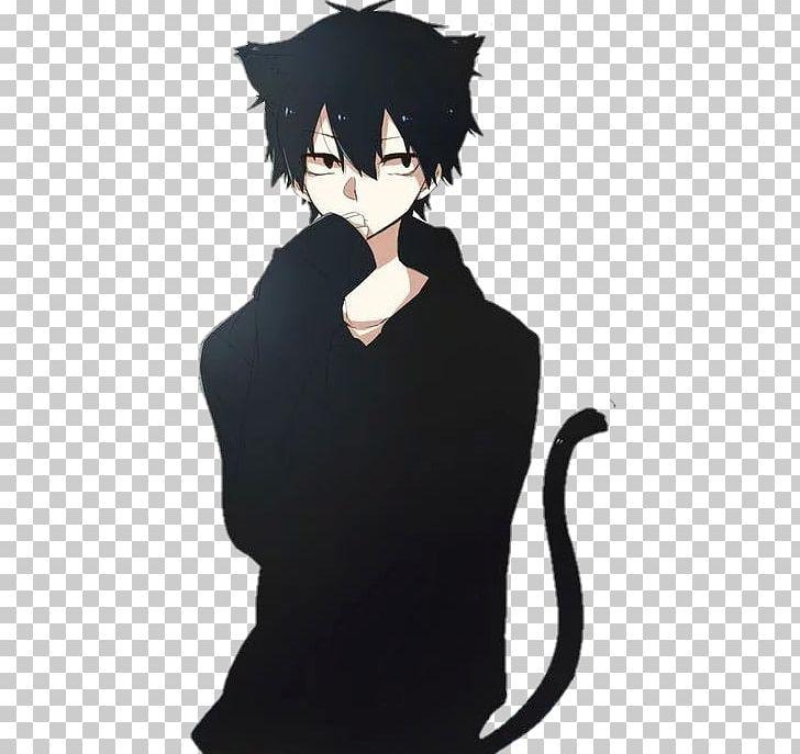 Catgirl Anime Male Black Butler PNG, Clipart, Animals, Anime, Black.