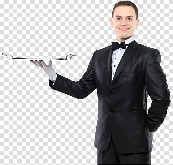 Tray Waiter Butler, working people transparent background PNG.