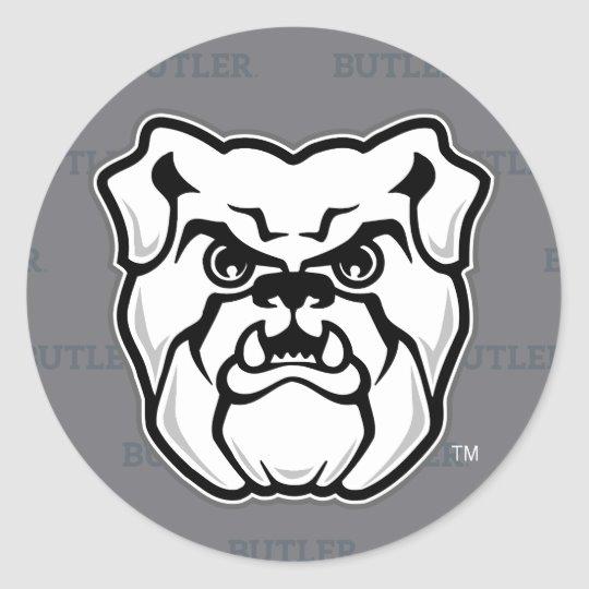 Butler University Logo Watermark Classic Round Sticker.