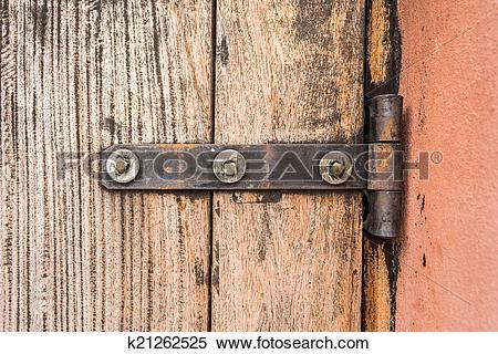 Stock Image of iron butt hinges door k21262525.