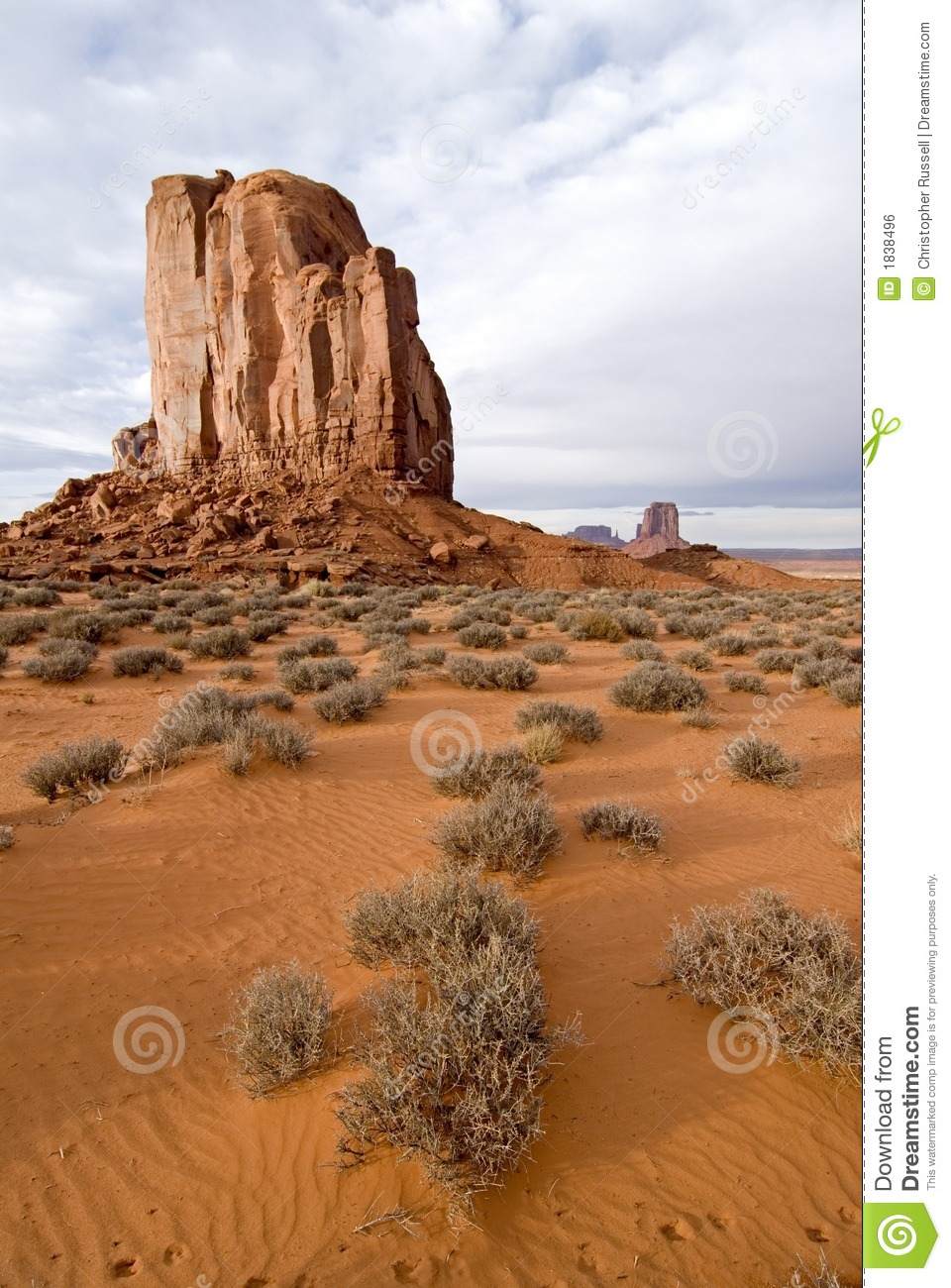 Monument Valley Desert Butte Royalty Free Stock Image.