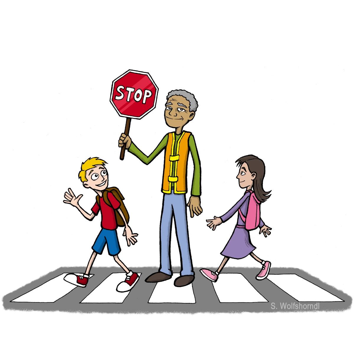 School crosswalk clipart.