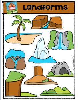 Landforms {P4 Clips Trioriginals Digital Clip Art}.