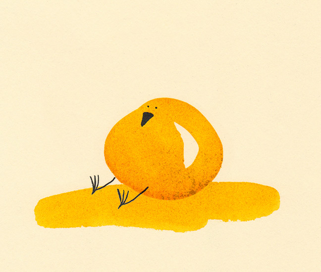 Ornithoblogical: day 345: butter ball.