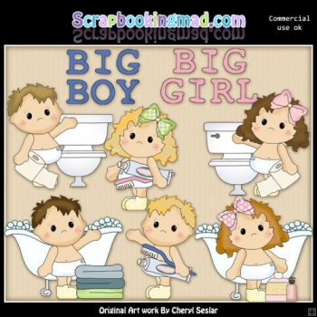Butterball Babies So Big ClipArt Collection.