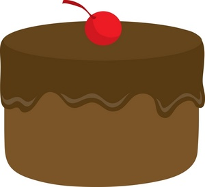 Free clipart chocolate cake.