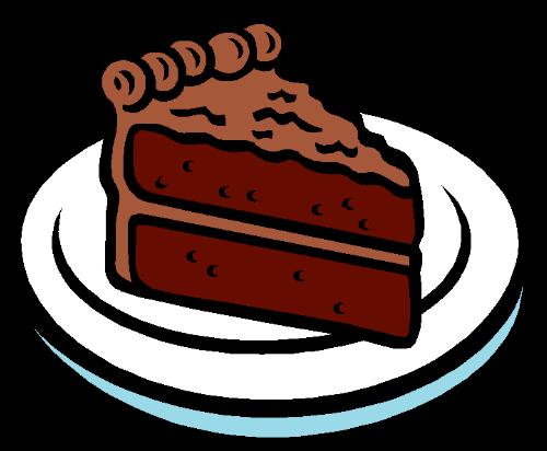Chocolate cake slice clipart.