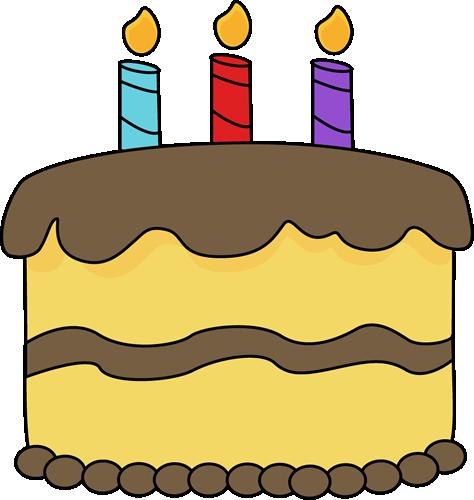 Yellow Birthday Cake Clip Art.