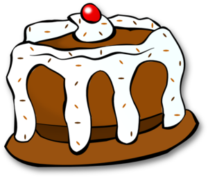 Clip art of cake clipart 2 clipartcow 2.