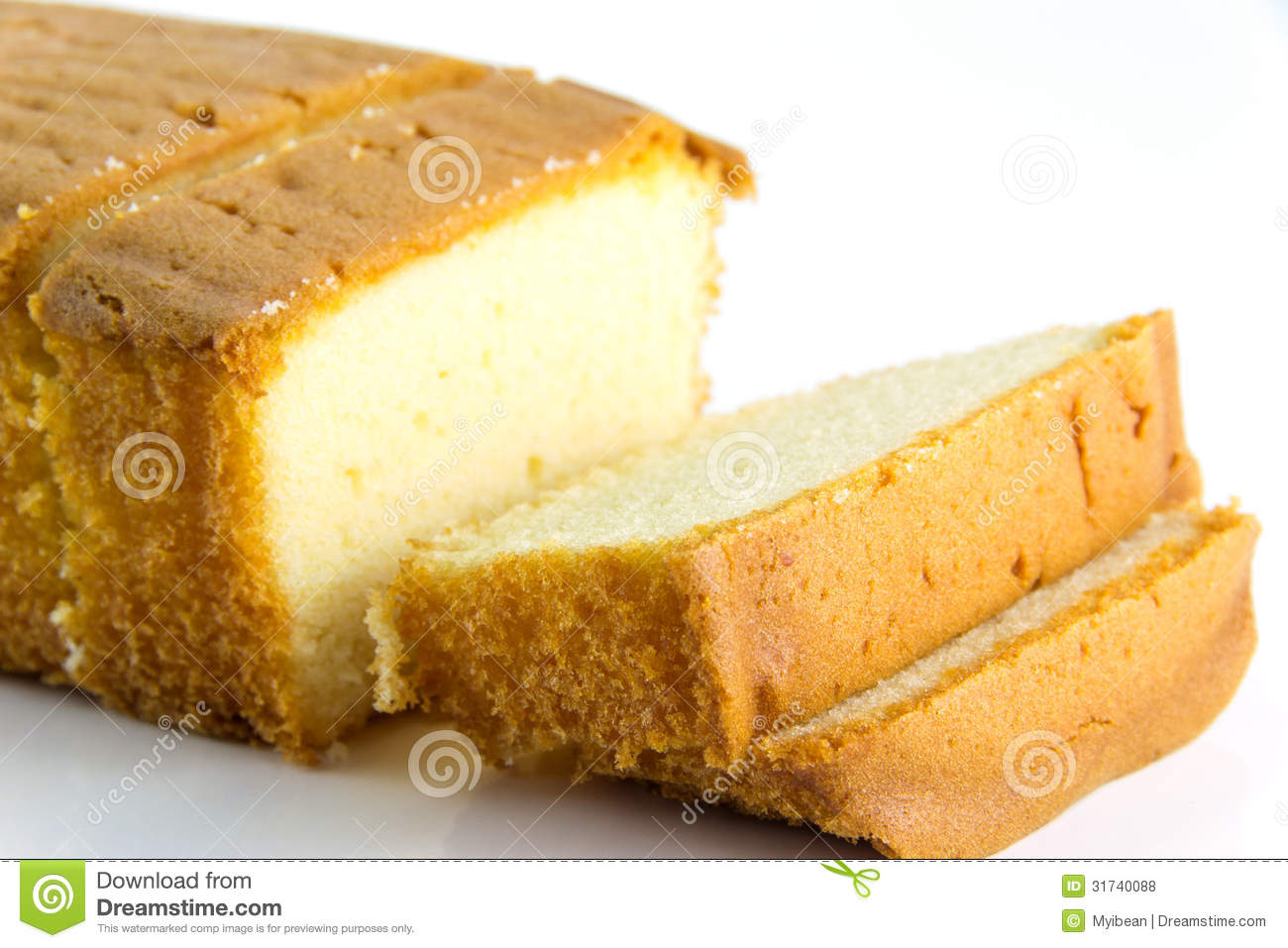 Butter Cake And Slices Royalty Free Stock Photos.