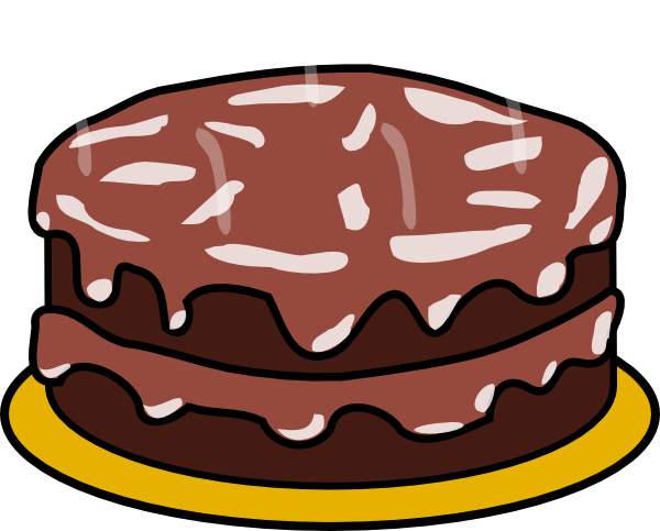 Free chocolate cake clipart.