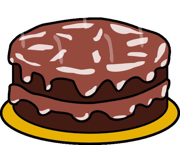 Free chocolate cake clipart.