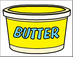 Clip Art: Food Containers: Butter Tub Color I abcteach.com.