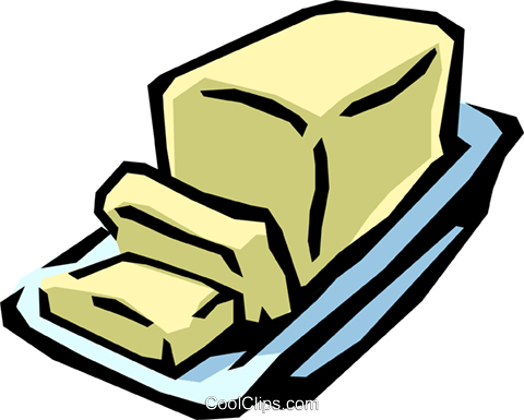 Butter dish Royalty Free Vector Clip Art illustration.