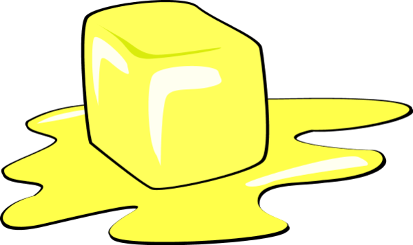 Melting butter clipart.