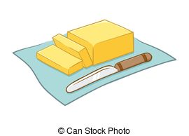 Clipart Vector of Vector Illustration of a Butter Curl.
