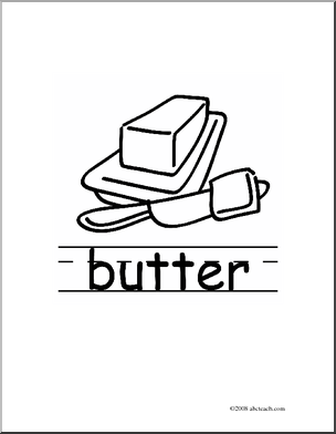 Butter Clipart Black And White.