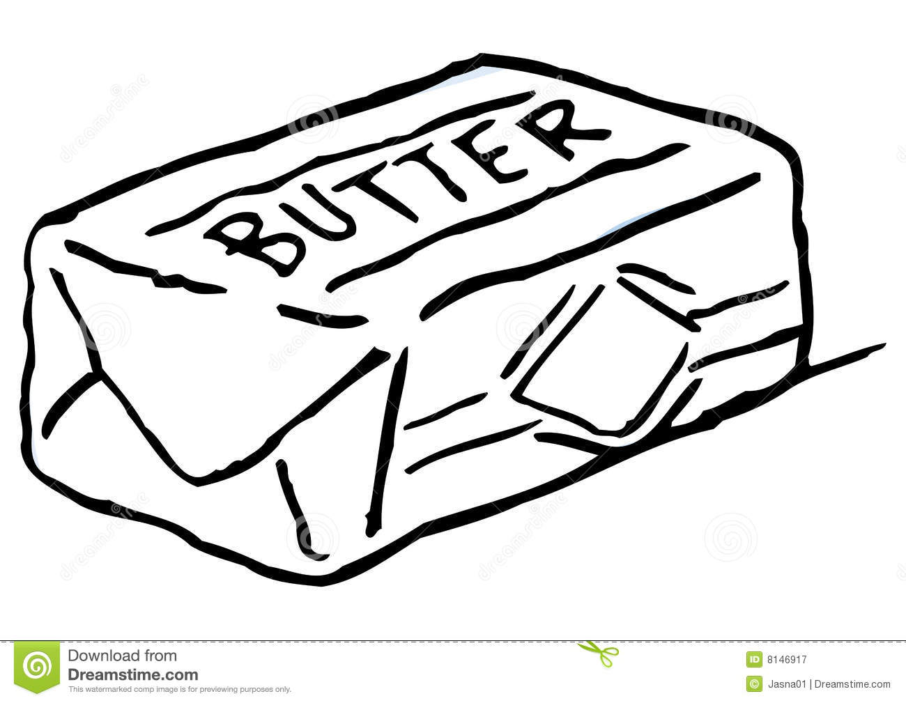 Butter clipart black and white » Clipart Station.