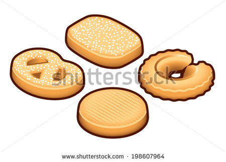 Butter Biscuits Stock Vectors, Images & Vector Art.